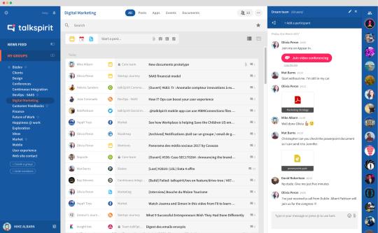 plateforme talkspirit mails