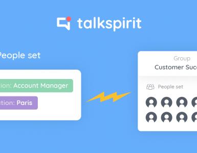 Talkspirit blog article gestion dynamique groupes fonctionnalité temps