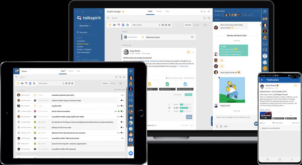 reseau social entreprise collaboratif talkspirit communication interne