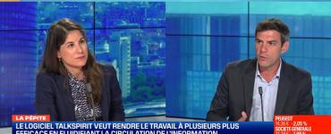 Philippe Pinault, CEO de Talkspirit, solution française alternative aux GAFA, sur le plateau de BFM Business le 24 aout 2020