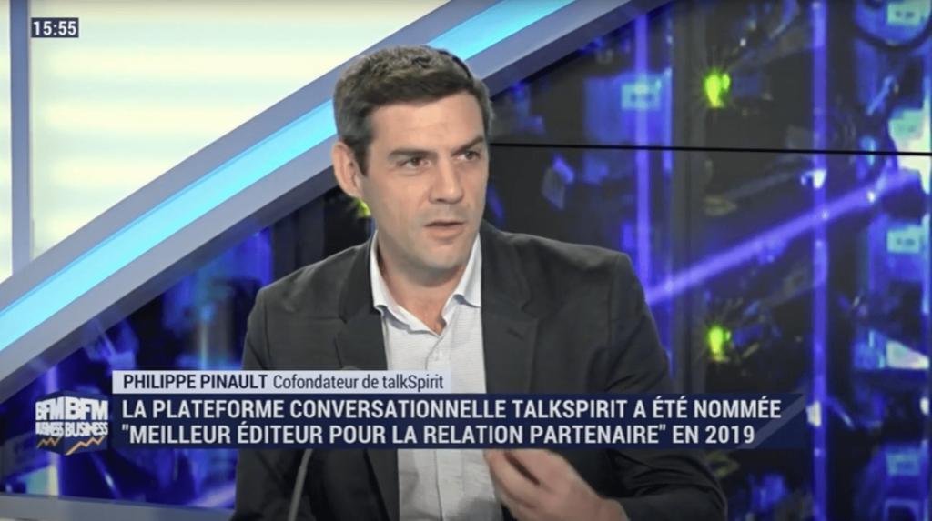 Philippe Pinault, CEO de Talkspirit, parle réseaux sociaux d'entreprise sur BFM Business