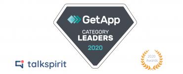 Talkspirit est nommé Category Leader par GetApp dans la catégorie Instant App & Messaging