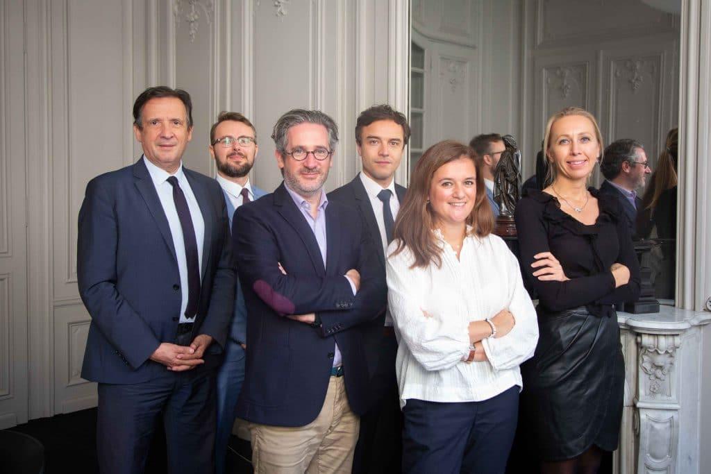 Photo de l'équipe de l'office notarial Vacossin & Associés