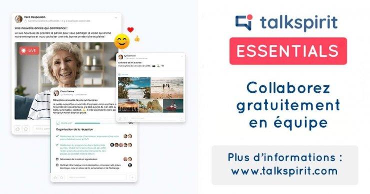 Talkspirit lance Essentials, son plan gratuit avec du tchat et de la visioconférence