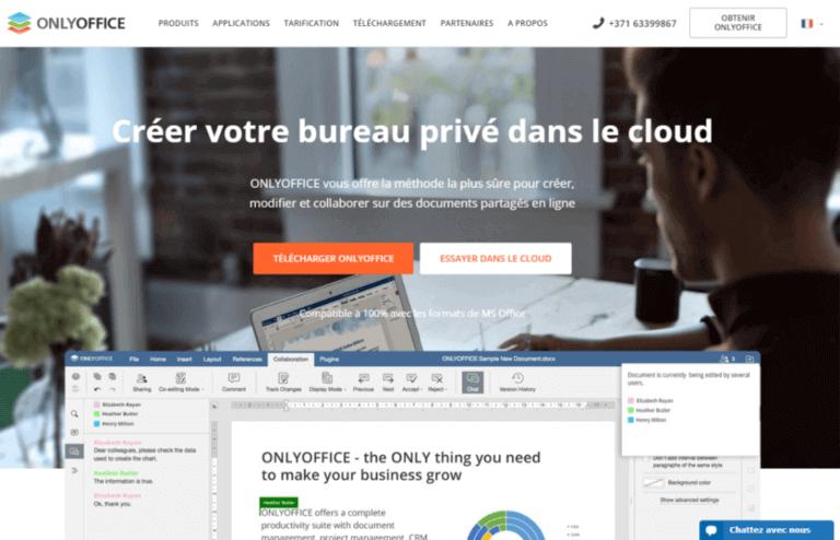 OnlyOffice collaboration documents partagés pour débuter en télétravail solution européenne