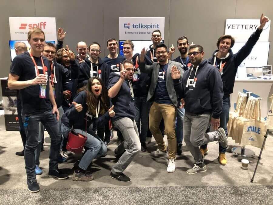 SaaStr annual 2019 Talkspirit équipe San Francisco Transformation digitale