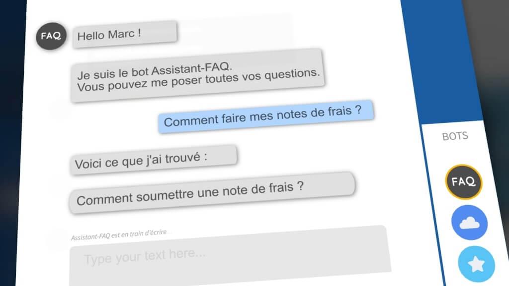 Assistant bot FAQ talkspirit expérience collaborateur